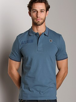 G-Star SO Legion Polo Shirt Old Blue