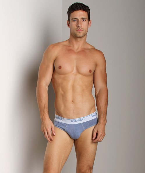 Diesel Heathered Andre Brief Sky Blue