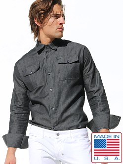Rufskin Allen Black Denim Fitted Shirt