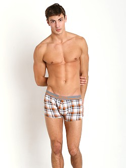 Hugo Boss 24 Print Boxer Orange Plaid