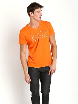 Hugo Boss Beach V-Neck Shirt Orange