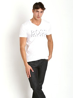 Hugo Boss Beach V-Neck Shirt White