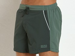 Hugo Boss Snapper Swim Shorts Green