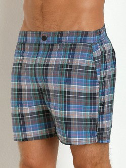 Hugo Boss Tigerfish Swim Shorts Blue Plaid