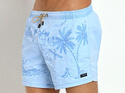Hugo Boss White Shark Swim Shorts Sky Blue