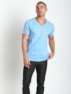 Hugo Boss Beach V-Neck Shirt Sky Blue