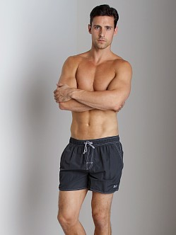 Hugo Boss Lobster Swim Shorts Dark Grey