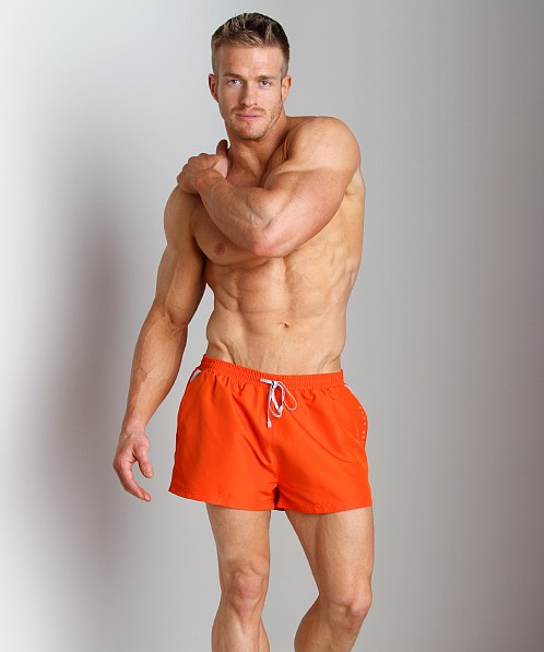 Hugo Boss Mooneye Swim Shorts Bright Orange