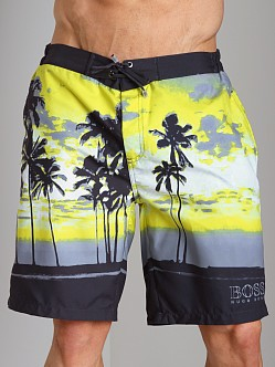 Hugo Boss Waryfish Board Shorts Yellow