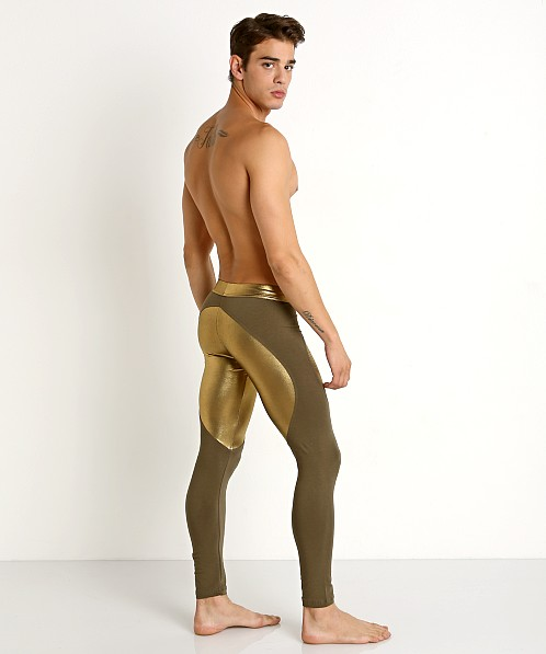 Modus Vivendi Dusk 2 Dawn Tights Khaki/Gold Foil