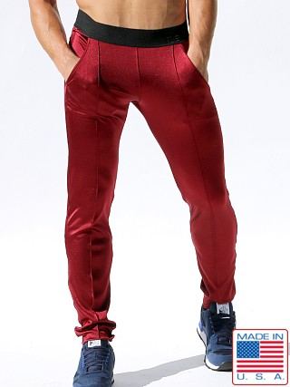 Rufskin Lee Nylon/Spandex Stretch Sport Pants Burgundy