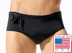 Rufskin Cepheus Fused Neoprene Swim Brief Black
