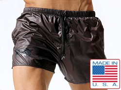 Rufskin Apollo Lightweight Nylon Shorts Gunmetal Grey