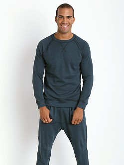 2xist Active Organic Terry Pullover Sweatshirt Mineral Teal