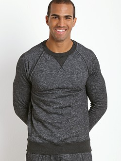 2xist Active Organic Terry Pullover Sweatshirt Black Heather