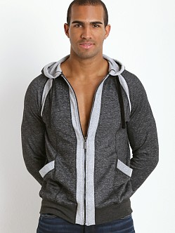 2xist Active Organic Terry Full Zip Hoodie Black Heather