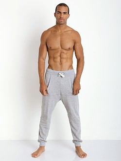 2xist Active Organic Terry Harem Pant Light Grey Heather