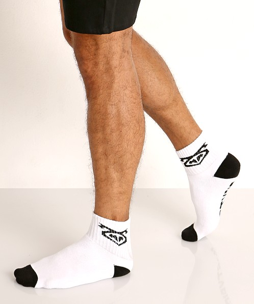 Nasty Pig Flasher Socks 2-Pack Black/White