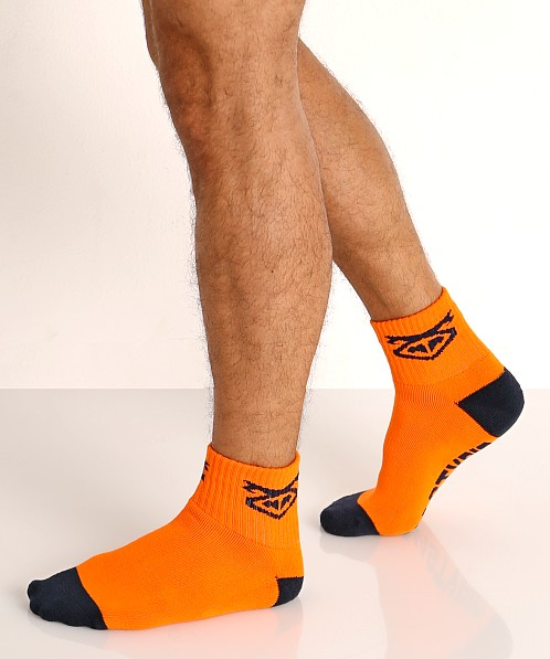 Nasty Pig Flasher Socks 2-Pack Navy/Orange