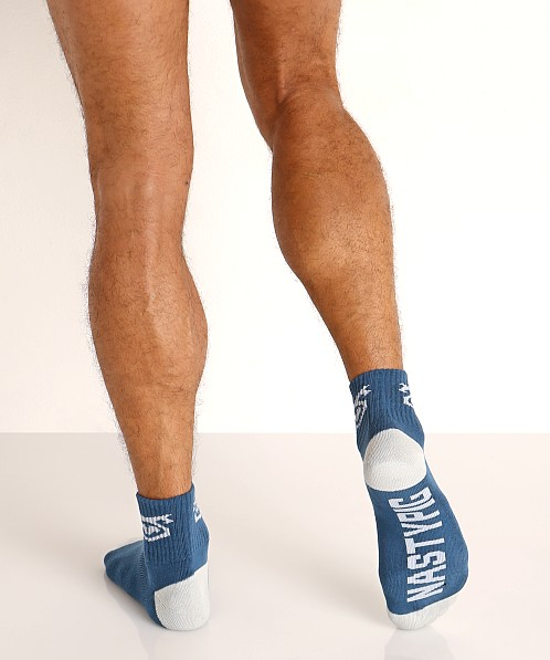 Nasty Pig Flasher Socks 2-Pack Green/Blue