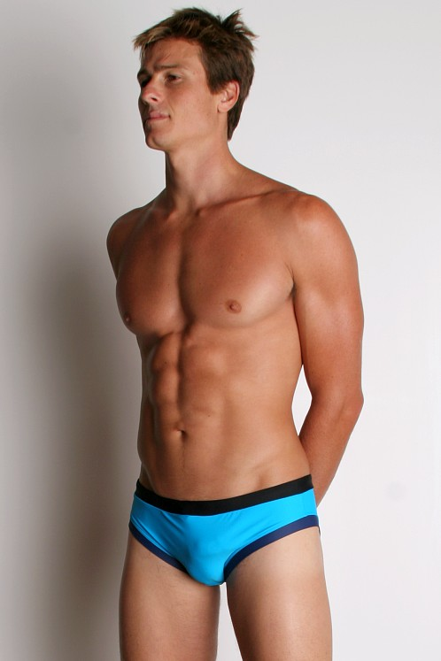 Go Softwear Retro Swim Briefs Turquoise