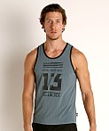 Cell Block 13 Mesh Relay Tank Top Army, view 3