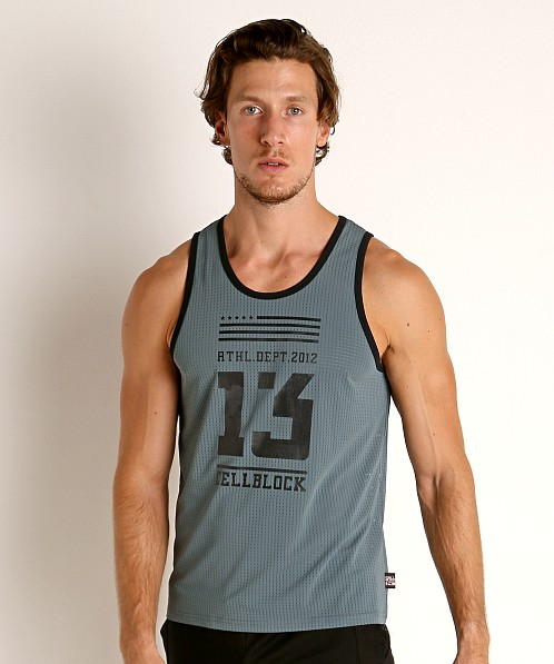 Cell Block 13 Mesh Relay Tank Top Army