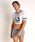 Cell Block 13 Mesh Relay Cutoff Tee White, view 2