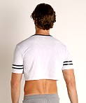 Cell Block 13 Mesh Relay Cutoff Tee White, view 4