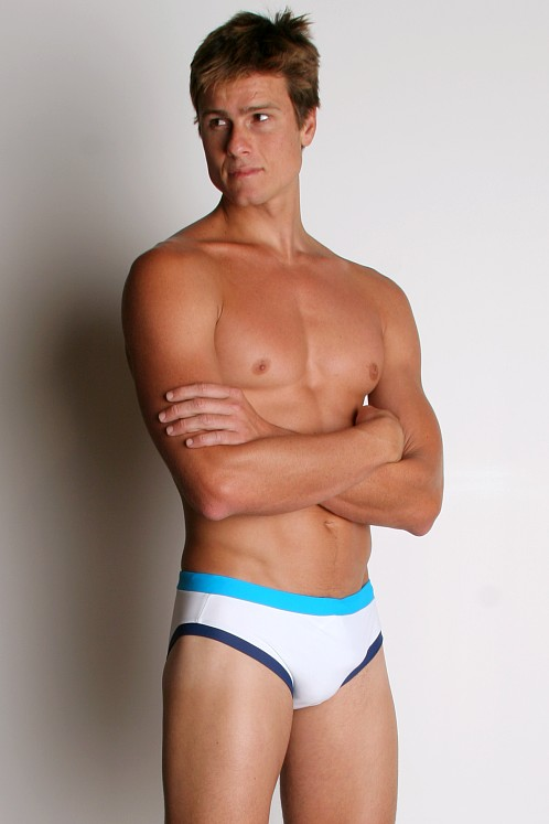 Go Softwear Retro Swim Briefs White