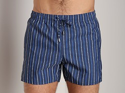 GrigioPerla Nero Perla Cruise Striped Swim Shorts Riga Blue