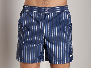 GrigioPerla Nero Perla Cruise Striped Swim Boxer Riga Blue
