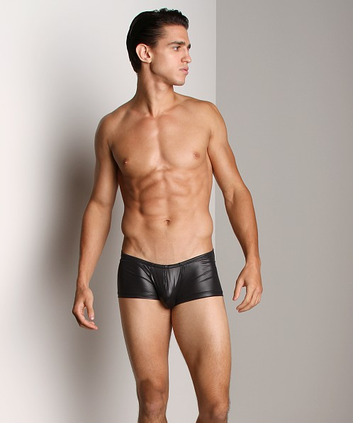 6aa97bfd64 CockSox Wet Look Swim Trunk Switch Black CX08WL at International Jock