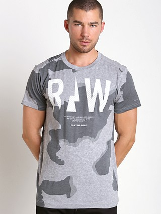 G-Star Rowack Desert Camo T-Shirt Grey Heather