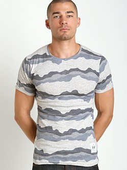 G-Star Yoshem Camo Stripes Crew Neck Snow Heather