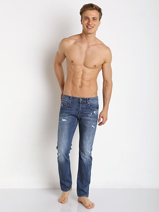 G-Star Attac Slim Straight Jeans Accel Destroy