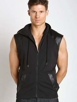 Nasty Pig Contender Rubber Detail Sleeveless Hoodie