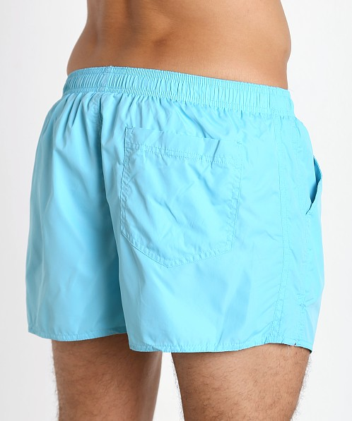 John Sievers Natural Pouch Swim Shorts Turquoise