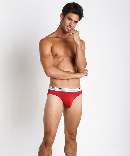 John Sievers Natural Pouch Brief Racing Red
