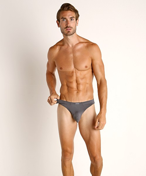 John Sievers LUX Natural Pouch Low Rise Thong Steel Grey
