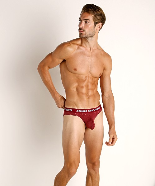 John Sievers STRETCH MESH Natural Pouch Brief Hot Pepper