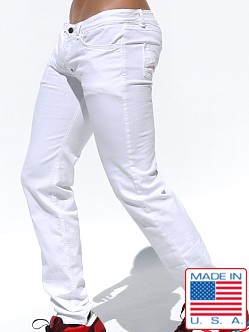 Rufskin Fjord Stretch Twill Nutton Fly Jeans Optic White
