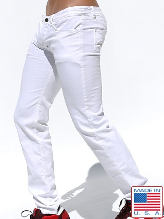 Rufskin Fjord Stretch Twill Button Fly Jeans Optic White