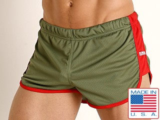 American Jock Equipo Cross Country Short Olive
