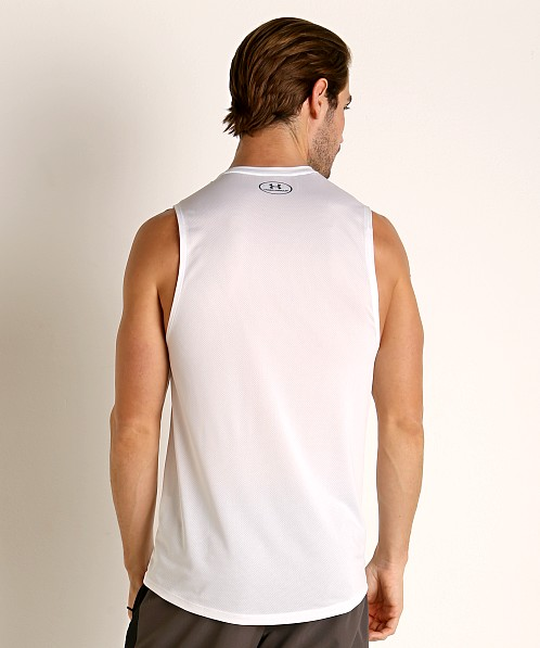 Under Armour Raid 2.0 Muscle Tee White