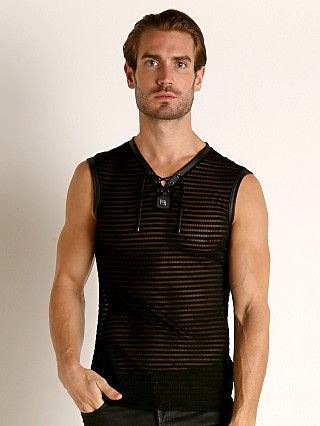 Model in black Gregg Homme Jailhouse Muscle Shirt