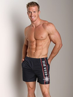 Hugo Boss White Shark Swim Shorts Navy