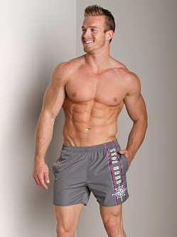 Hugo Boss White Shark Swim Shorts Grey