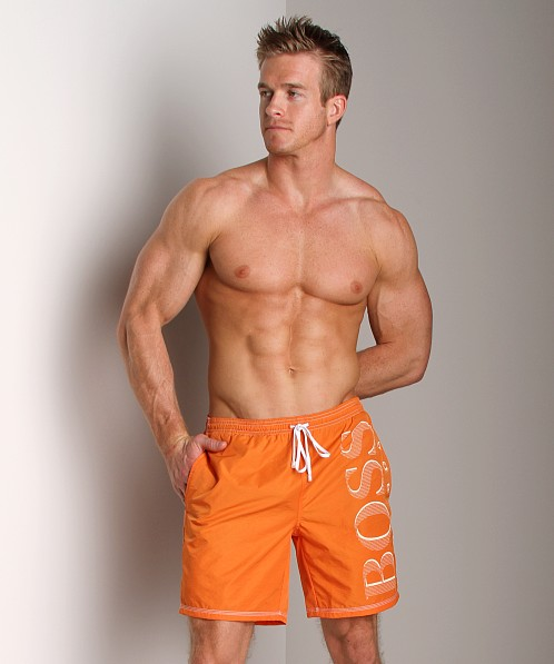 Hugo Boss Killifish Swimsuit Orange