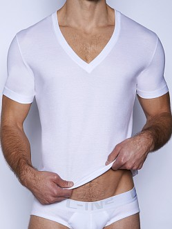 C-IN2 Core V-Neck Pima Tee White